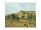 Pontoise, or the Gardens of the Hermitage, Pontoise, 1867 Reproduction procédé giclée par Camille Pissarro
