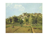 Pontoise, or the Gardens of the Hermitage, Pontoise, 1867 Giclee Print by Camille Pissarro