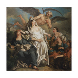 Time Unveiling Truth, 1733 Giclee Print by Jean Francois de Troy