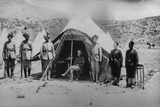 General Roberts with His Native Orderlies in the Small Tent Used During the Second Afghan War,… Photographic Print