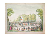 Revolutionary Procession, C. 1789 Giclee Print by Etienne Bericourt