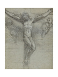 A Study of Christ on the Cross with Two Angels Giclee Print by Federico Barocci