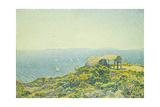 L'Ile Du Levant, Vu Du Cap Benat, 1893 Giclee Print by Theo van Rysselberghe