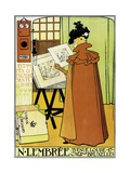 Poster Advertising 'N. Lembree' Art Shop, Brussels, 1898 Giclee Print by Théo van Rysselberghe