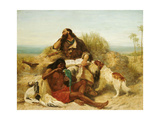 Robinson Crusoe and His Man Friday Giclee Print by John Charles Dollman