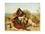 Robinson Crusoe and His Man Friday Giclee Print by John Charles Dollman