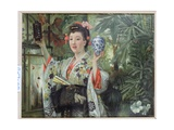 The Japanese Vase, C.1870 Giclee Print by James Tissot