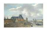 Nevers Hotel and the Louvre Palace, 1637 Giclée-Druck von Abraham de Verwer