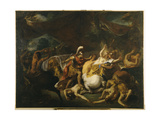 The Battle of the Lapithes and the Centaurs Giclee Print by Jean Francois de Troy