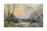 View of the Seine, Paris Giclee Print by Albert-Charles Lebourg