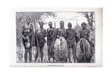 Masai Warriors of Kapte, from 'Through Masai Land' by Joseph Thomson, 1885 Giclee Print by Joseph Thomson