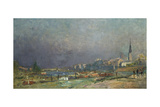 On the Banks of the River Giclee Print by Albert-Charles Lebourg