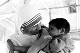Mother Teresa with a Child Photographic Print