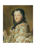 Portrait of Maria Leszczynska, Queen of France and Navarre, 1744-48 Giclee Print by Maurice Quentin de La Tour