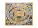 Scenographia: Systematis Copernicani Astrological Chart (C.1543) Devised by Nicolaus Copernicus… Giclee Print by Andreas Cellarius
