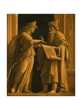 A Sibyl and a Prophet, C.1495 Giclee Print by Andrea Mantegna