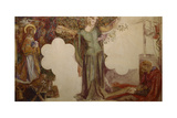 Sir Lancelot Prevented, by His Sin, from Entering the Chapel of the Holy Grail Giclee Print by Dante Gabriel Rossetti