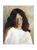 Young Woman with Her Hair Down, C.1897 Giclee Print by Paula Modersohn-Becker