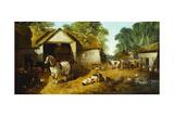 Meopham Farmyard, 1857 Giclee Print by John Frederick Herring Jnr