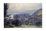 View of Vetheuil, Sunset, 1897 Giclee Print by Albert-Charles Lebourg