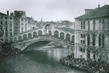 View of the Rialto Bridge Photographic Print