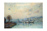 From the Boathouse, Outskirts of Rouen Giclee Print by Albert-Charles Lebourg