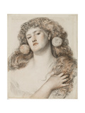 Red Rose and White, 1867 Giclee Print by Anthony Frederick Augustus Sandys