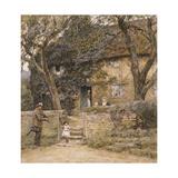 The Fiddler Giclee Print by Helen Allingham