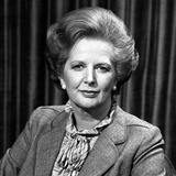 Prime Minister Baroness Thatcher before Filming Panorama, 26th April 1982 Photographic Print