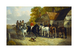 Going to Barnet Fair Giclee Print by John Frederick Herring Jnr