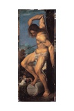 Averoldi Polyptych, Panel Depicting the Martyrdom of St. Sebastian, 1522 Giclee Print by  Titian (Tiziano Vecelli)