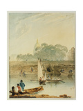 The Hotel Des Invalides Giclee Print by Richard Parkes Bonington