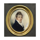 Portrait Miniature of Captain Jonathan Birch, Wearing Blue Coat and White Waistcoat, 1805 Giclee Print by William Wood
