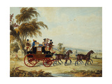 The Brighton - London Coach on the Open Road, 1831 Giclee Print by John Frederick Herring I