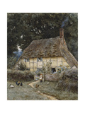 On the Brook Road, Near Witley Giclee Print by Helen Allingham