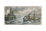 Sinking of the 'Jourdain' at Beirut in 1863, after a Photograph by M. Mourgueville Giclee Print by Louis Lebreton
