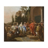 Abraham and Sarah before Abimelech, 1681 Giclee Print by Johann Heinrich Roos