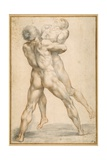 Hercules Wrestling with Antaeus Giclee Print by Guiseppe Cesari