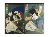 Ilustrations from an Album Depicting Actors in Various Roles Giclee Print by Utagawa Kunisada