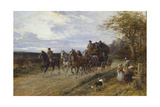 A Passing Coach Giclee Print by Heywood Hardy
