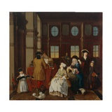 Music Society - from a Series of Four Paintings Showing People at Leisure, 18th Century Giclee Print