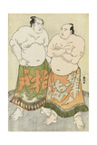 Portraits of the Wrestlers Fudenoumi and Kashiwado Giclee Print by Katsukawa Shunsho