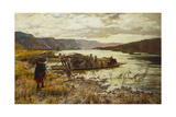 Crossing the Lake Giclee Print by Henry John Yeend King