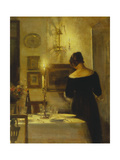 In the Dining Room Gicleetryck av Carl Holsoe