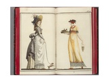 Women's Fashions - Page IV from Journal Fuer Fabrik, Manufaktur, Handlung Und Mode, Published by… Giclee Print by German School
