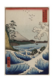 The Sea Off Satta in Suruga Province, from the Series 'The Thirty-Six Views of Mount Fuji' Giclee Print by Ando Hiroshige