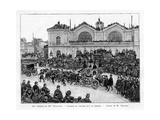 The Funeral Procession of Marguerite Boucicaut in Paris, 1887 Giclee Print by Louis Tinayre