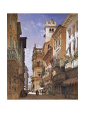 Verona: Corso Sant' Anastasia and the Palazzo Maffei Giclee Print by William Callow