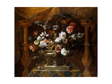 Still Life with Flowers in a Silver Vase with Perfume Burners, C.1690-99 Giclee Print by Jean-Baptiste Monnoyer