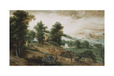 An Extensive Landscape with Cottages in the Foreground, 1561 Giclee Print by Jacob Grimmer